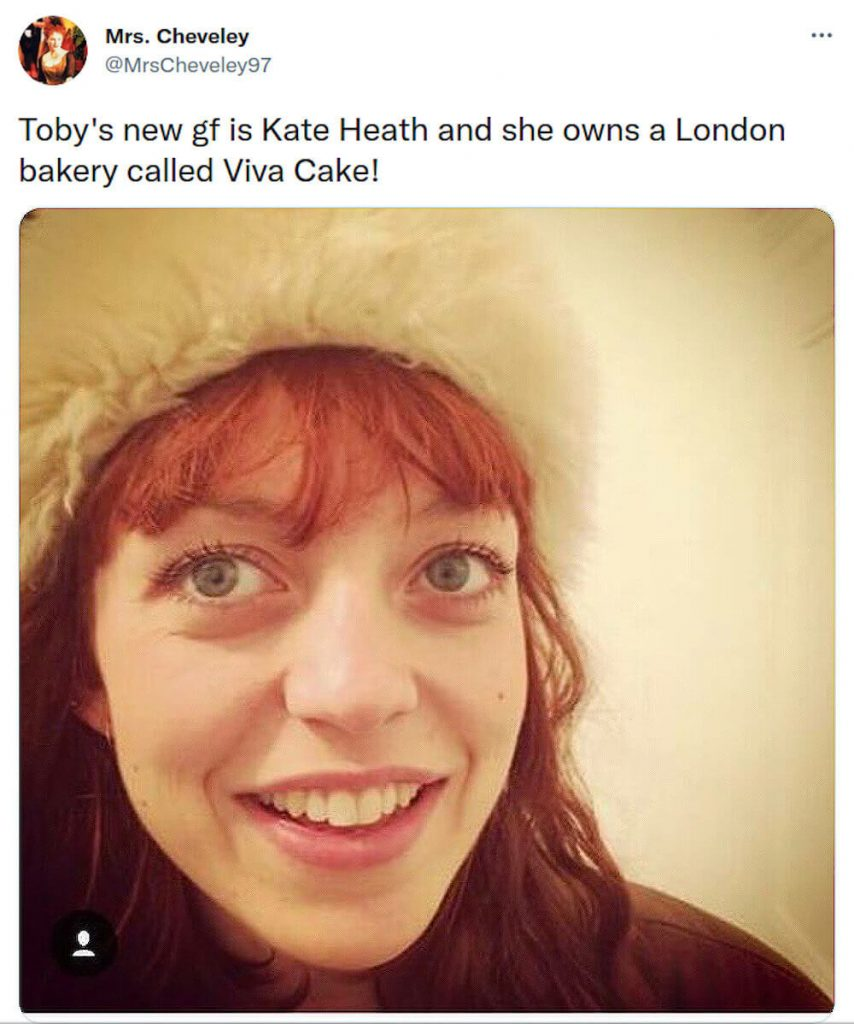 Toby Regbo and Kate Heath on Twitter