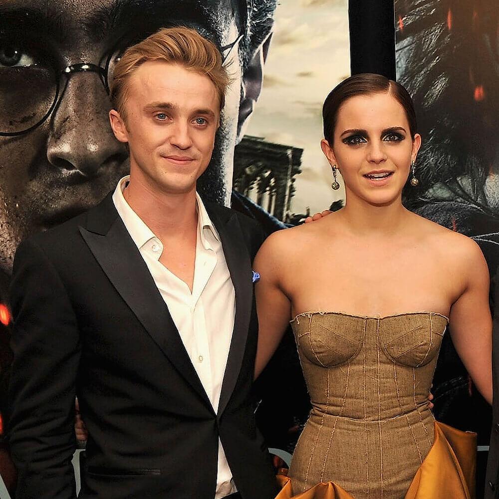Tom Felton and ex girlfriend Emma Watson