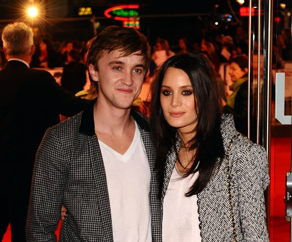 Tom Felton and girlfriend Jade Olivia Gordon
