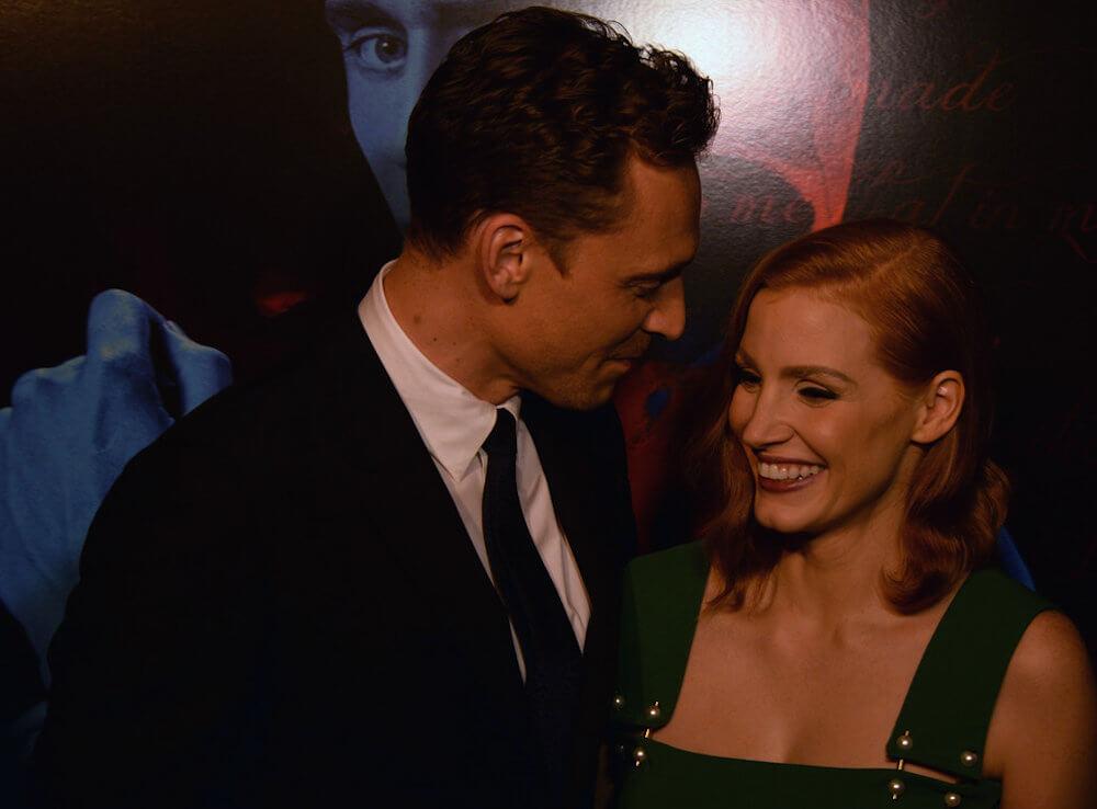 Tom Hiddleston and ex girlfriend Jessica Chastain