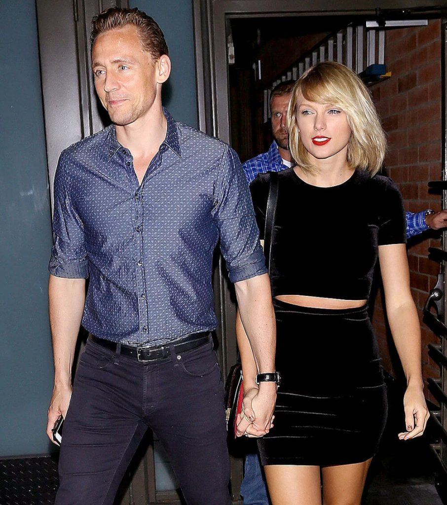 Tom Hiddleston and ex girlfriend Taylor Swift