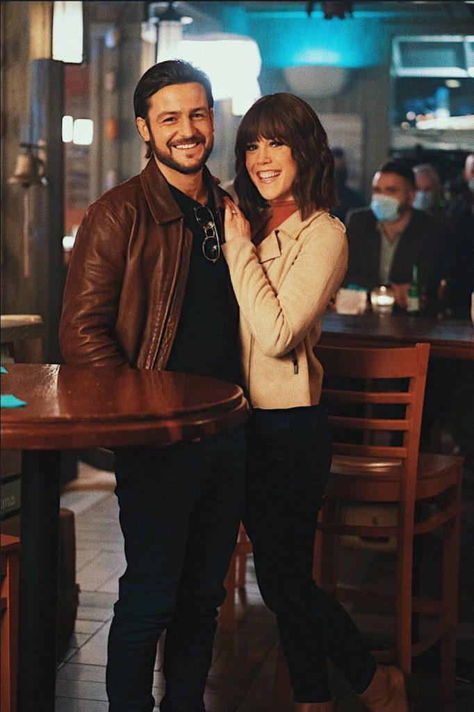 Tyler Hynes and co-star Erin Krakow