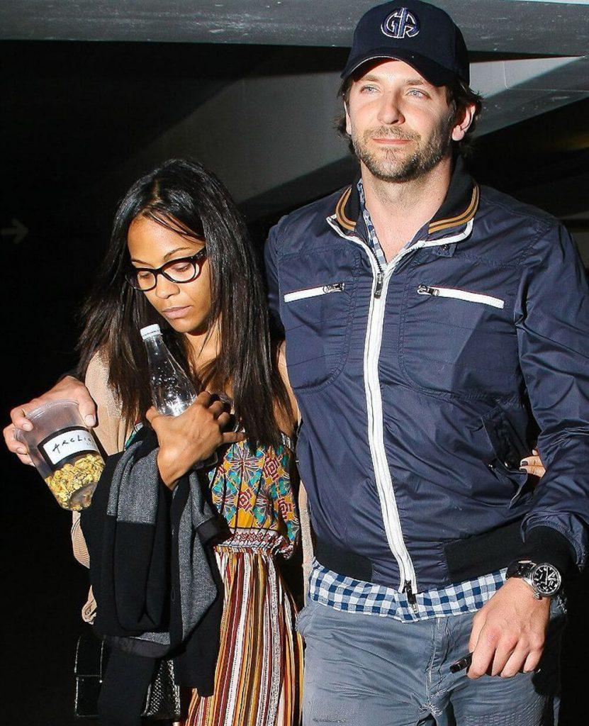 Zoe Saldana and ex boyfriend Bradley Cooper