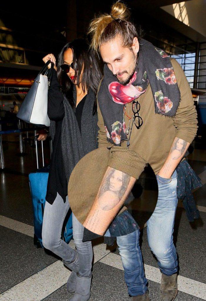 Zoe Saldana husband tattoo